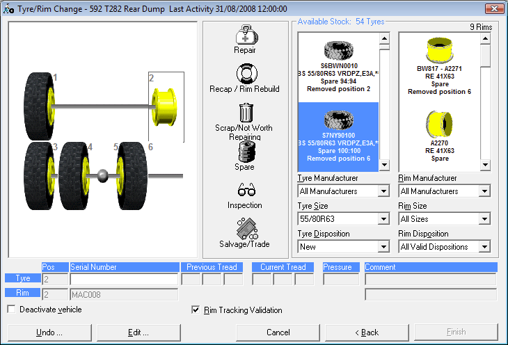 Figure 1 – A Vehicle Tyre Change in Total Tyre Control™ – drag ...